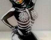 Burlesque Day of the Dead ceramic figurine