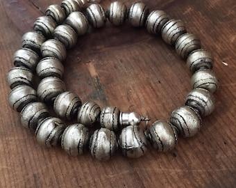 African Necklace, Ethiopian Beads, Artisan Beads, Chunky Necklace, Boho Necklace, Rustic Necklace