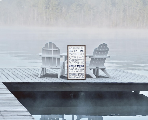 Lake House  Rules Sign | Personalized lake house | rules sign| lake house decor | lake house sign | lake sign Wood Sign| Wall Decor|