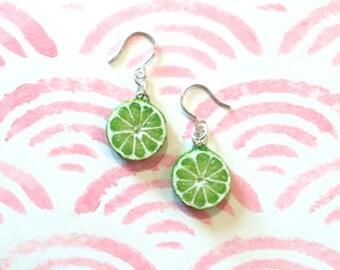 Juicy Lime Slice Earrings