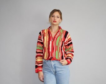 1990s Authentic Coogi Sweater - Women's Coogi Cardigan - The Hangin' with the Homies Coogi - W00122