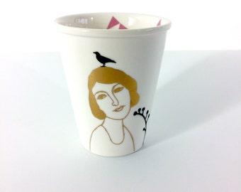 Mug printed with Belle Dame Madeleine