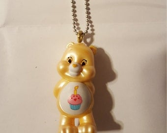Care Bears Birthday Bear miniature necklace
