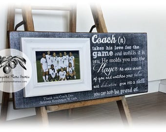 Basketball Coach Gift, Coach Thank You Gift, Coach Frame, Molds You Into The Player, 8x20 The Sugared Plums Frames