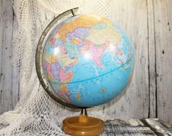 World Globe, George F Cram Company's Imperial Globe, Wood Base Globe    -   C