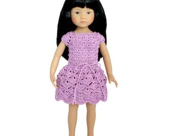 """Download Now - CROCHET PATTERN 13"""" Little Darling® Doll Selena Dress"""