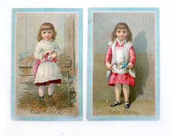 19th Century Easter Trade Cards, L. Prang & Co. of Boston