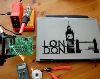 London Laptop/Window Sticker
