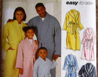 Easy to Sew Childs Teens Adults Robe and Belt Sizes XS to XL Simplicity Pattern 5931 UNCUT