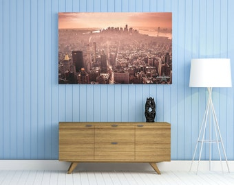 New York City Canvas Wrap, New York City Art, New York City Art, NYC Skyline, Skyline, NYC, NYC Gallery Wrap. Empire State Building, Canvas