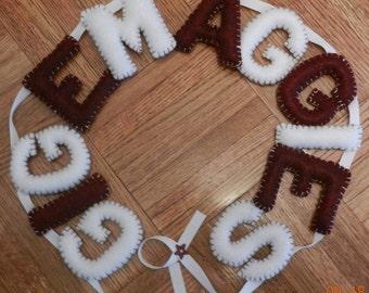 "Texas A&M University ""Gig Em Aggies"" Banner"