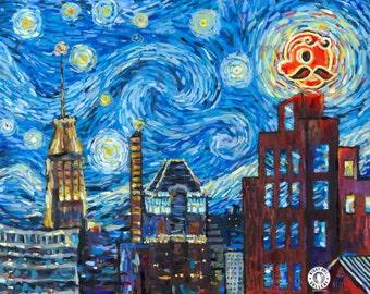 Natty Van Gogh Fine Art Print