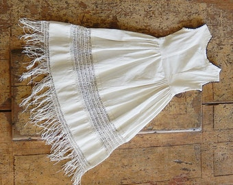 Edwardian Dress Slip Baby Slip Undergarment with Handmade Lace / Antique Edwardian Lawn Cloth Baby Slip / Vintage Baby Doll Collectibles