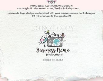 1021-1 photography logo, bird and camera logo, watermark, little bird photography business logo , business card , banner