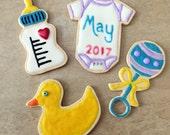 Reserved: Baby Announcement Cookies for Lauren