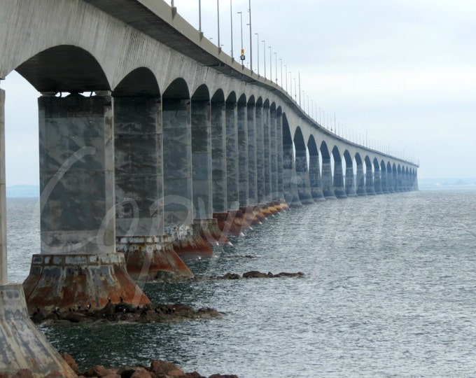 Confederation Bridge, PEI Bridge, Print or Greeting Card, Coastal, Nautical, Industrial, Photography, Gift Idea, Home Decor, Architecture