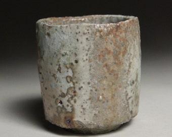 Small Anagama Leopard Shino Cup