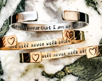 Your Name Here, Gift Box Included, Custom Bracelet, Personalize Hand Stamped Bracelet, Custom Coordinates Wedding Bridesmaid, Quote, Mantra