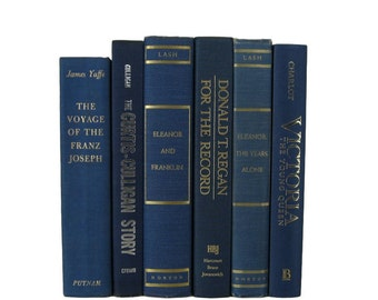 Blue Home Decor, Vintage  Books, Wedding Decor,  Vintage  Books, decorative books, old books, library decor, stack of books, Bookshelf Decor
