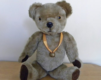 "Vintage Bear 18"" - 1960's Toy - Pedigree Teddy Bear - Growler - English Teddy - Mohair Bear"