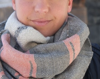 Cashmere Cowl - Handwoven Naturally Dyed Everyday Luxury Cowl Scarf - Textural Delight