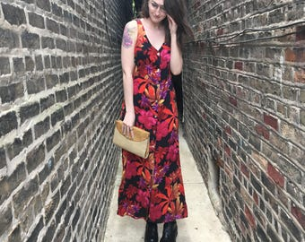 FREE SHIPPING!: Vintage 1990's Tropical Maxi Dress