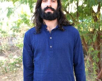 Handwoven Cotton Kurta ~ Indigo