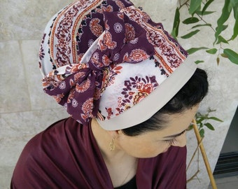 Handmade Lycra One wrap apron tichel, wrap around by oshratdesignz, Jewish hair coverings