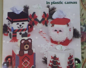 Plastic Canvas Christmas Tissue Box Covers Book