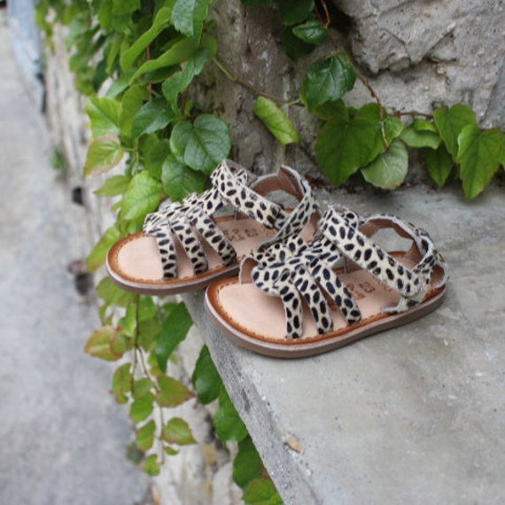 Kids leopard sandals-kids sandals-sandals for children size 23