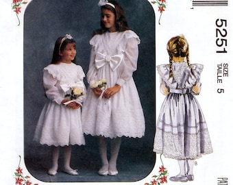 McCall's 5251 Sewing Pattern for Girls' Dresses - Uncut - Size 5