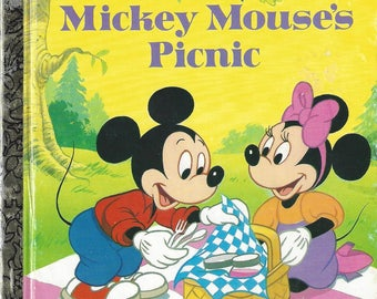 Vintage Walt Disney's Mickey Mouse's Picnic, A Little Golden Book, Vintage Children's Book, C1991