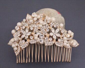 Rose gold hair accessories,Wedding hair comb,Bridal hair accessories,Wedding hair piece,Bridal hair comb,Wedding hair jewellery,Bridal comb