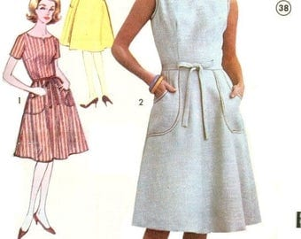Advance 3152 Misses' 60s Back Wrap Dress Sewing Pattern Size 16 Bust 36