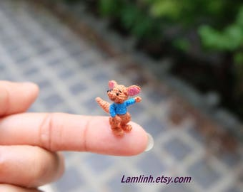 dollhouse miniature dolls - crochet amigurumi kangaroo