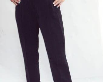 "high waist PLEATED pants / navy / s / m 28"" Waist"