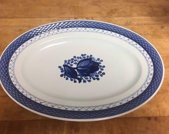 Royal Copenhagen Denmark Fajance Tranquebar Blue Platter