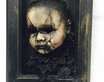 Creepy Doll  Wall Art