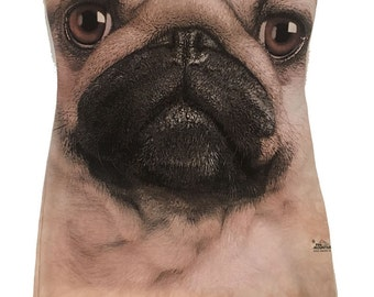 Cutest PUG Dog Reshaped T-Shirt / Dress Sz. M