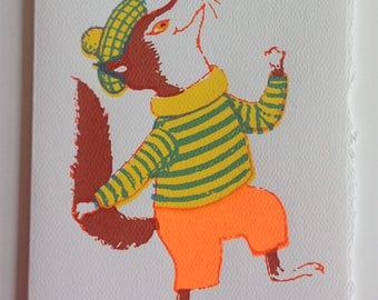Dancing Fox Greeting Card