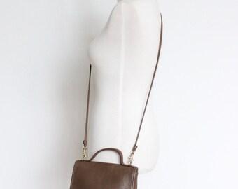 Vintage Coach Casino Bag // Mini Messenger Bag Putty Taupe Tan 9924 // Crossbody Bag