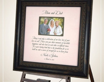 Personalized Picture Frame, Wedding Photo Frame, Wedding Sign, Custom Wedding Gift, Parent Wedding Thank You, Personalized Mom Dad Gift