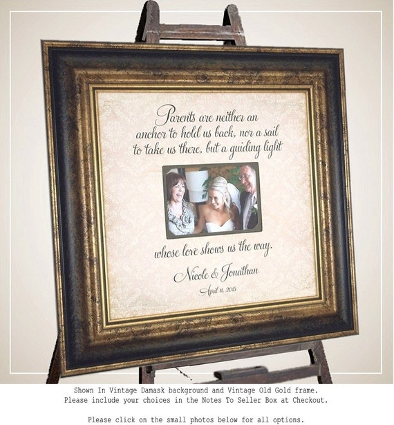 Parent Wedding Gift, Mother of the Groom Gift, Mother of the Bride Gift, Wedding Gift for Parents, Parents of the Bride Gift, Burlap,16 x 16