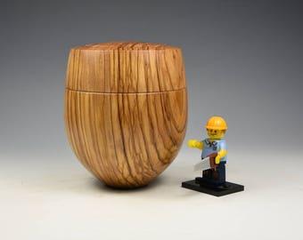 Olivewood wooden box, woodturning, gift, wood