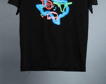 Youth 14-16 Vintage Texas Tee Shirt Neon Graphic 6AA