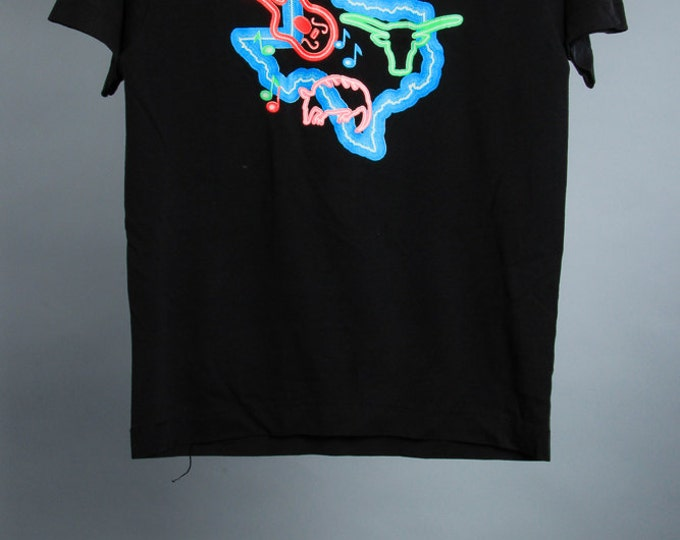 Youth 14-16 Vintage Texas Tee Shirt Neon Graphic 6AA