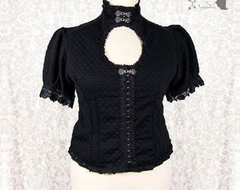 Blouse goth, Victorian, gothic, Steampunk black, Devota, Somnia Romantica, size large - extra large see item details for measurements