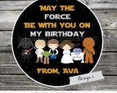 Favor Tags, Star Wars Favor Tags, Star Wars Stickers, Space Wars, May the Force be with you, birthday favor tags, party favors, set of 12