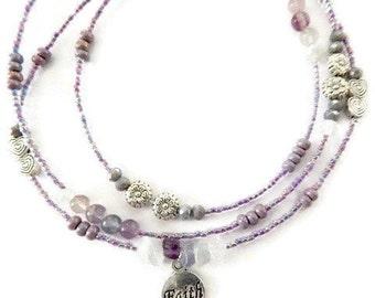 Faith Multicolored Fluorite Waist Beads