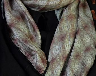 Silk Scarf  - Printed silk scarf, Scarf, Silk.